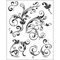 """Akriliniai antspaudukai """"Floral Embellishments"""""""