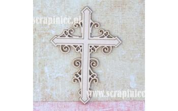 """Kartoninė formelė """"Kryželis su ornamentu"""""""