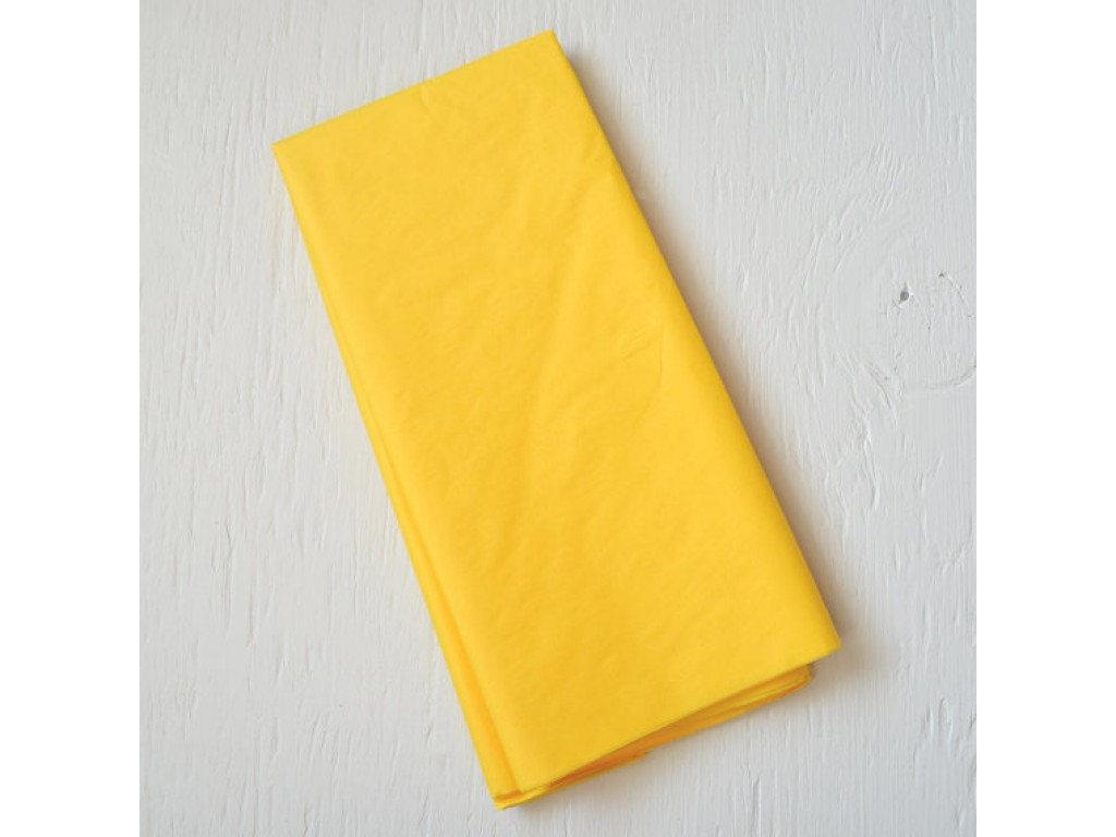 "Tissue šilko popierius ""Saulės geltona / Sun Yellow F068"", 25vnt."