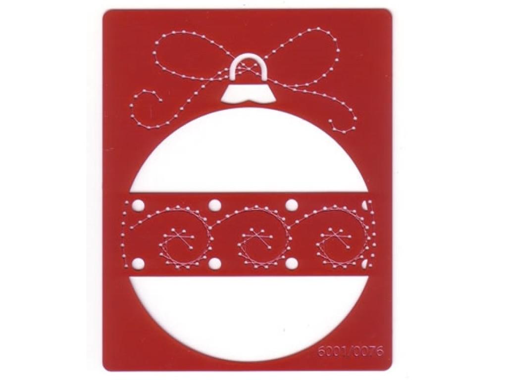 """Metalinis trafaretas """"Christmas ball round"""""""