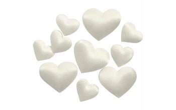 "Satino širdelės ""Satin Hearts"", 10vnt."