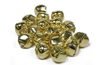 "Apvalus metalinis varpelis ""Jingle Bell Gold"", 8mm"
