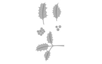 "Kirtimo ir reljefo formelė ""Holly Leaves"", 5vnt."
