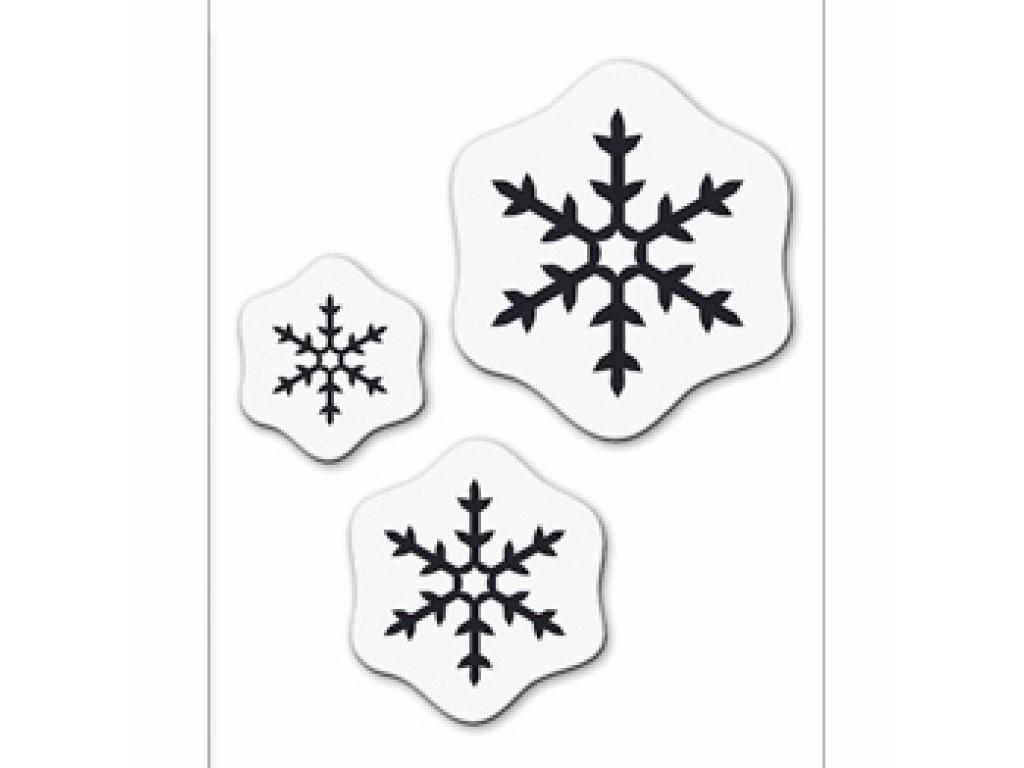 "Akriliniai antspaudukai ""Ice Crystal 2"", 3vnt."