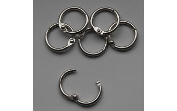 Apvalus sidabro spalvos žiedas albumams, 1,4cm