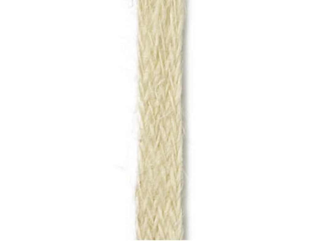 """Natūralaus džiuto juostelė """"Flat Ivory 10mm"""", 1m"""