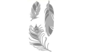 """Kirtimo ir reljefo formelė """"Feathers"""", 3vnt."""
