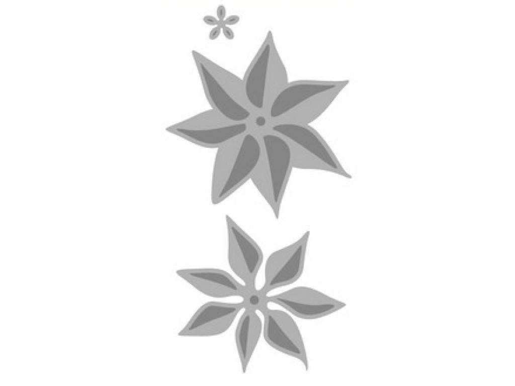 "Kirtimo ir reljefo formelė ""Poinsettia 3D"", 3vnt."