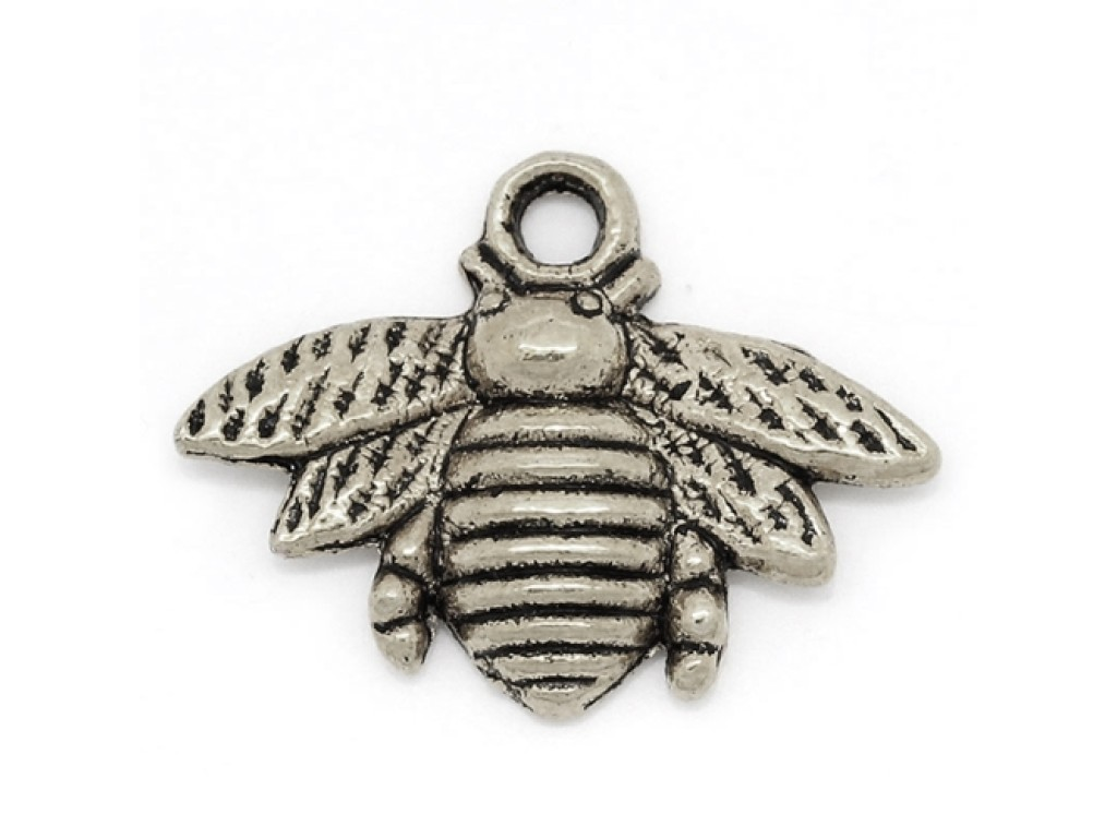 """Metalinis pakabukas """"Antikinio sidabro bitė"""", 1vnt."""