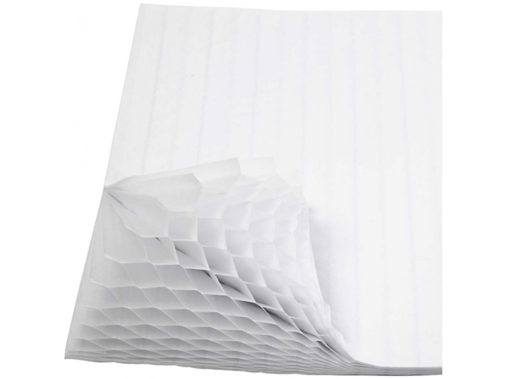 "Sluoksniuotas 3D popierius ""Honeycomb White"", 1vnt."