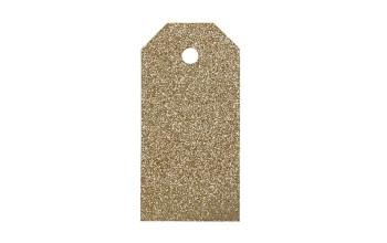 "Popierinės etiketės ""Glitter Gold"", 4vnt."