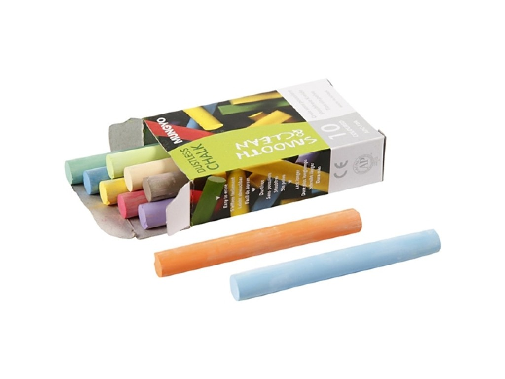 "Kreidelės ""Chalkboard Chalk 10 Colours"""