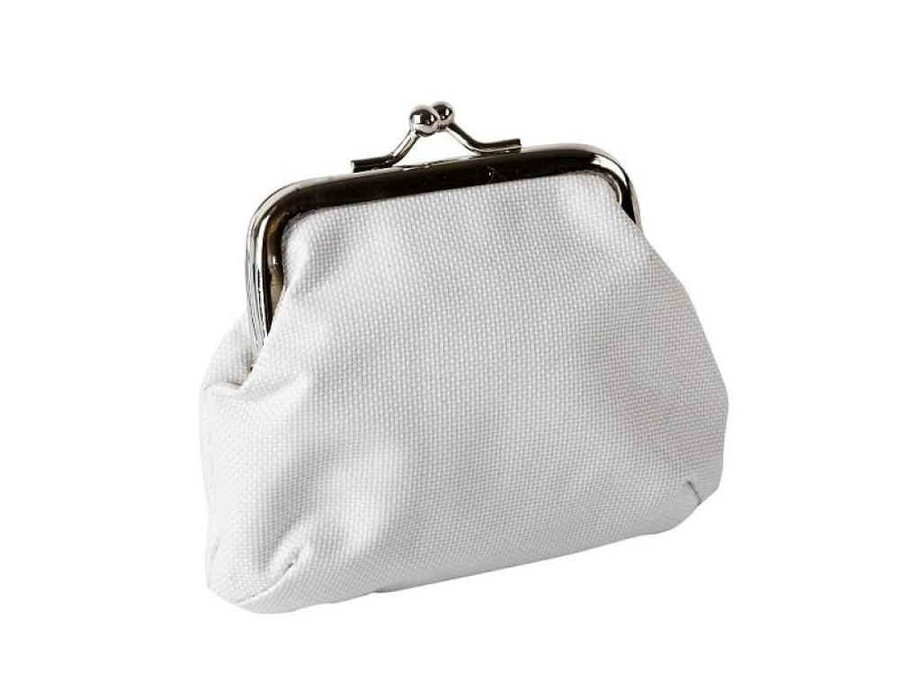 Tekstilinė piniginė 9x10cm, balta