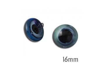"Mėlynos stiklinės akys ""Swe-On"" 16mm, 2vnt."