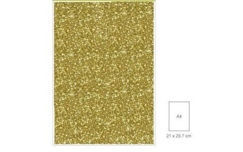 """Popierius su blizgesiu """"Glitter gold"""", A4"""