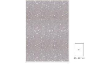 """Popierius su blizgesiu """"Glitter White"""", A4"""
