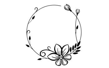 """Reljefo formelė """"Round Flower Frame"""""""