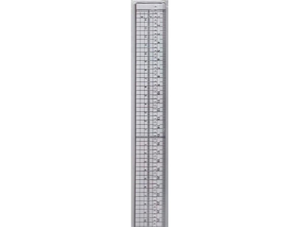 Plastikinė liniuotė metalo kraštu 30cm