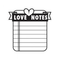 """Akriliniai antspaudukai """"Love Struck - Love Notes"""""""