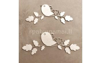 """Kartoninė formelė """"Amore Mio: paukšteliai ant šakelių"""", 2vnt."""