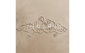 """Kartoninė formelė """"Ornamentas su gėlėmis"""""""