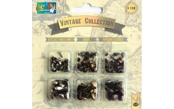 """Dek.vinukai """"Vintage collection brads assortment"""", 138vnt."""