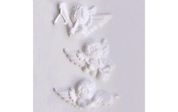 """Plastikinė formelė """"Angel heads 3"""", 3vnt."""