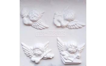 """Plastikinė formelė """"Angel heads 4"""", 4vnt."""