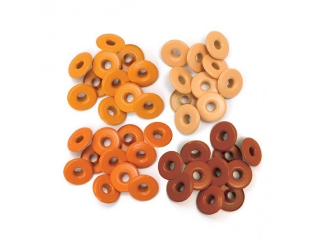 """Kniedės """"We R Memory Keeper wide eyelets orange"""", 40vnt."""