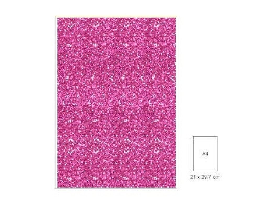 "Popierius su blizgesiu ""Glitter Cyclamen"", A4"