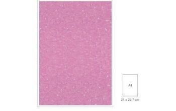 "Popierius su blizgesiu ""Glitter Pink"", A4"