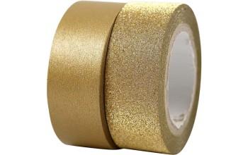 """Lipni popierinė juostelė """"Masking Tape Gold"""", 2vnt."""