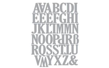 "Kirtimo formelė ""Uppercase Alphabet"""
