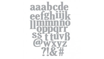 "Kirtimo formelė ""Lowercase Alphabet"""