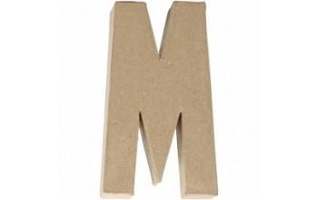 """Tūrinė kartoninė raidė dekoravimui """"M"""", 20,5cm"""