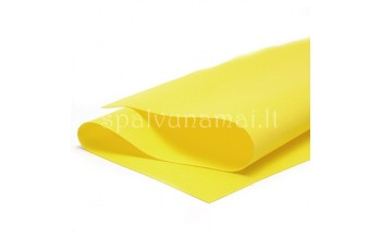 "EVA guma gėlėms ""Foamiran Yellow 0,5mm"", 30x35cm"