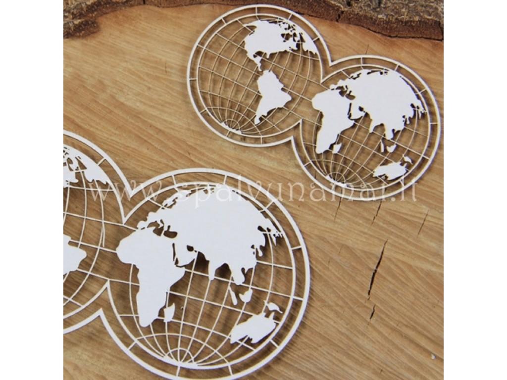 """Kartoninė formelė """"Travel the world: gaubliai"""", 2vnt."""
