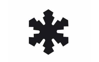 """Dek. skylamušis """"Snowflake-1 25x25mm"""""""