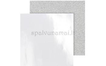 """Popieriaus rinkinys """"Design Paper Silver"""", 30,5x30,5, 2 lapai"""