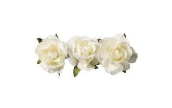 """Popierinės gėlės """"Paper Flower Cream"""", 12vnt."""