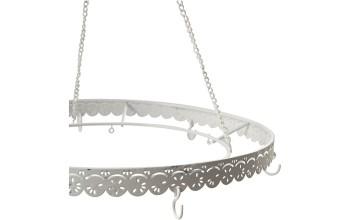 Pakabinamas metalinis lankas su kabliukais