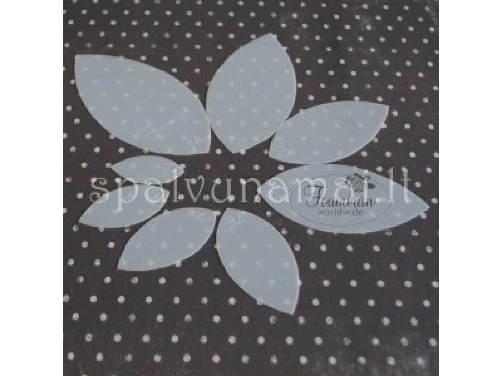 "Šablonas gėlėms gaminti ""Foam flower template 8"", 6vnt."