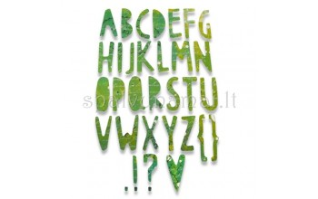 "Kirtimo formelė ""Paper Cuts Alphabet"""