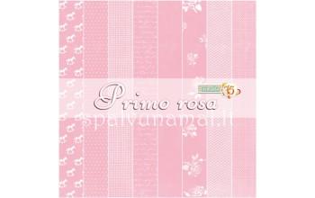 """Popieriaus rinkinys """"Prima Rosa"""", 15x15cm, 24 lapai"""