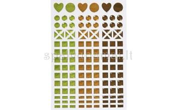 "Blizgaus plastiko lipdukai ""Mosaic Mix"", 138vnt."