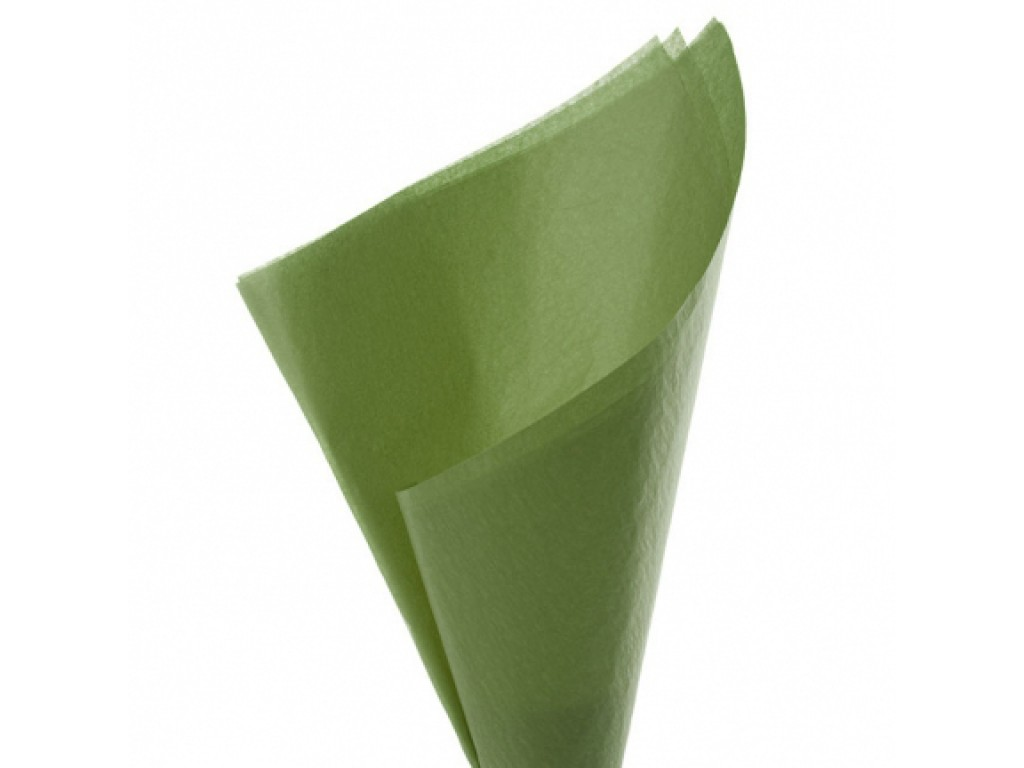 "Tissue šilko popierius ""Samanų žalia / Moss Green F042"", 25vnt."