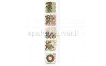 """Popierius su paveikslėliais """"Christmas time"""", 5,5x30,5cm"""