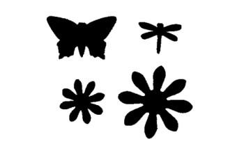"""Skylamušių rinkinys """"Flowers and butterfly"""", 4vnt."""