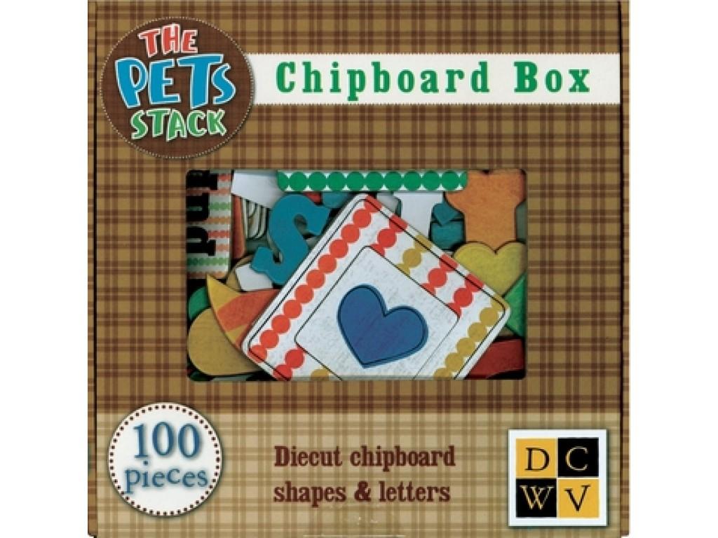 """Kartoninės formelės ir raidės """"The Pets Stack"""""""