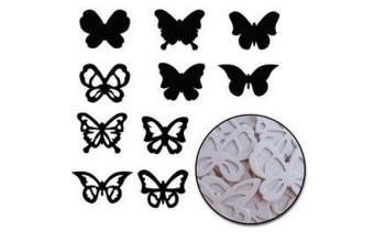 """Kartoninės formelės """"butterfly"""", 20vnt."""